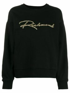 John Richmond sequinned logo sweatshirt - Black