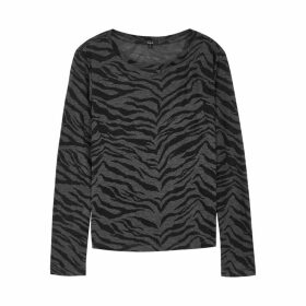 Rails Sully Tiger Print Linen-blend Top