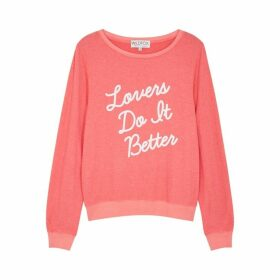 Wildfox Lovers Do It Better Jersey Sweatshirt