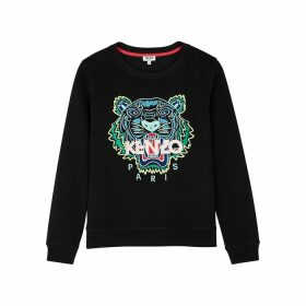Kenzo Tiger-embroidered Cotton Sweatshirt