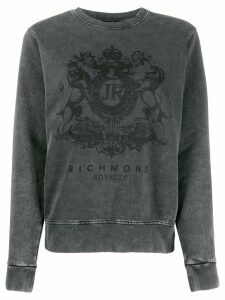 John Richmond Spencer logo print sweatshirt - Grey