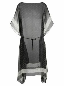 Stella McCartney monogram-print sheer tunic - Black