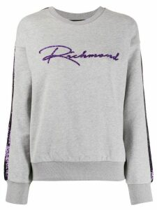 John Richmond sequinned logo sweatshirt - Grey