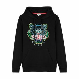 Kenzo Tiger-embroidered Hooded Cotton Sweatshirt