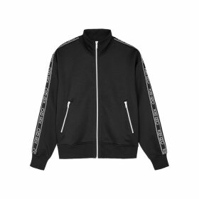 Kenzo Black Logo-embroidered Jersey Track Jacket