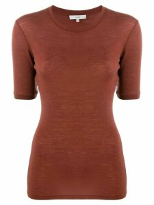 Vince short-sleeve knit top - Brown