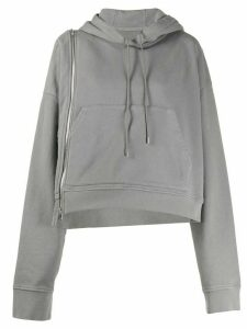 Maison Margiela side zipper hoodie - Grey