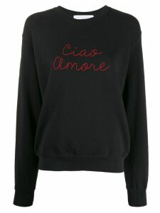 Giada Benincasa Ciao Amore embroidered sweatshirt - Black