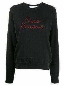 Giada Benincasa Ciao Amore embroidered sweatshirt - Black
