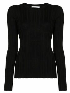 Helmut Lang ribbed merino wool jumper - Black