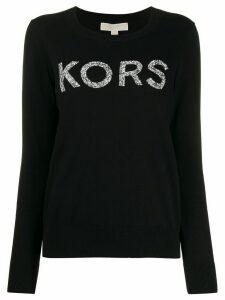 Michael Michael Kors embellished logo jumper - Black