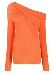 Nina Ricci one shoulder jumper - ORANGE
