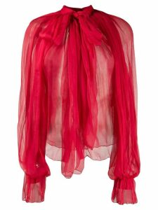 Atu Body Couture sheer silk blouse - Red