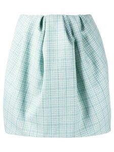 Nina Ricci checked puff mini skirt - Blue