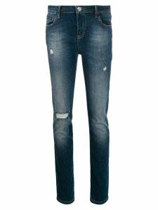 Philipp Plein Statement slim-fit jeans - Blue