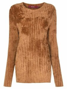 Sies Marjan ribbed slim fit jumper - Brown