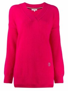 Tommy Hilfiger v-neck knit jumper - PINK