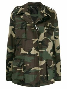Philipp Plein camouflage pattern military jacket - Green