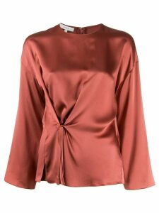 Vince gathered silk blouse - Brown