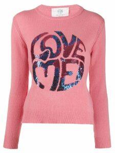 Alberta Ferretti Love Me knitted jumper - PINK