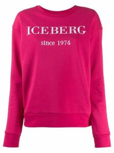 Iceberg embroidered logo sweatshirt - PINK