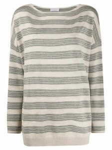 Brunello Cucinelli striped sweatshirt - NEUTRALS