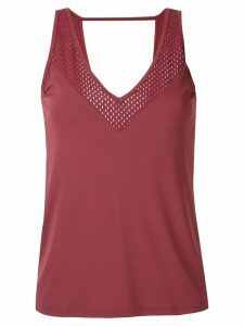 Track & Field Thermodry cut out detail tank top - Red