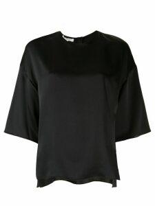 Vince silk side slit blouse - Black