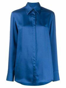 Victoria Victoria Beckham split cuff shirt - Blue