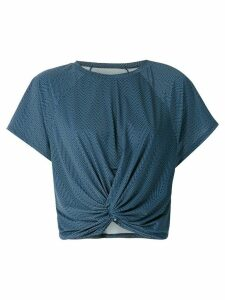 Track & Field Frequência Performance cropped blouse - Blue
