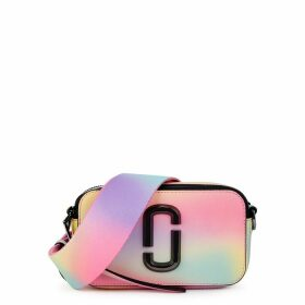 Marc Jacobs Snapshot Airbrush Rainbow Leather Cross-body Bag