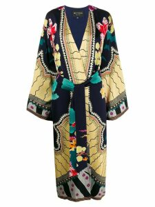 Etro loose-fit belted kimono - Blue