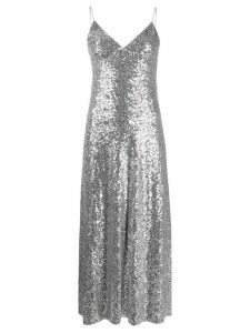 Norma Kamali Overlapping sequin dress - SILVER