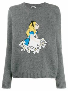 Miu Miu Alice in Wonderland intarsia jumper - Grey