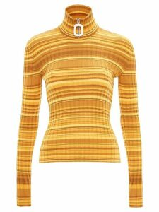 JW Anderson Neckbang ribbed striped jumper - Yellow