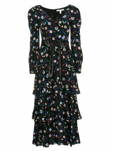 Olivia Rubin floral shift maxi dress - Black