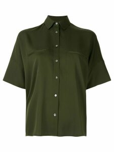 Vince oversized short-sleeve blouse - Green