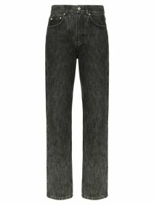 GANNI faded straight-leg jeans - Grey