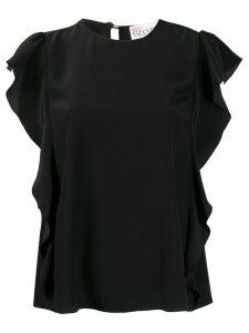 RedValentino silk ruffled top - Black