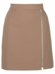 Theory front zipped mini skirt - Brown
