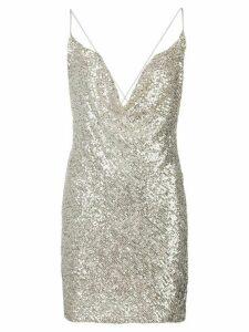 Jay Godfrey sequin embellished dress - SILVER
