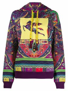 Etro paisley-print logo hoodie - PURPLE