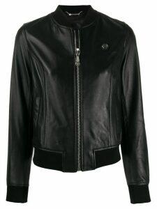 Philipp Plein embroidered logo jacket - Black