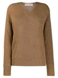 Marni v-neck loose-fit jumper - NEUTRALS