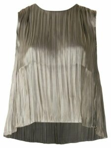 Vince metallic effect pleated top - GOLD