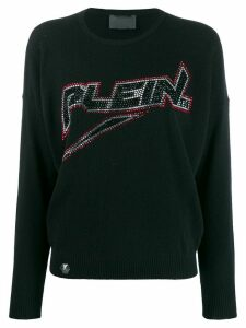 Philipp Plein space logo pullover - Black