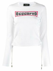Dsquared2 lace-up T-shirt - White