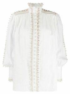 Zimmermann bauble trim blouse - White