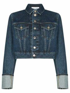 Helmut Lang Fem Little Trucker cropped denim jacket - Blue