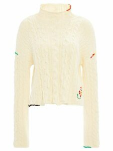 JW Anderson cable knit cropped jumper - White